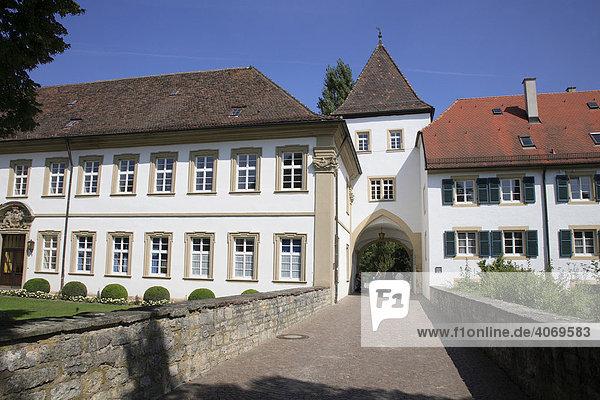 Stadttor am Schlosspark des Deutschordenschloss  Bad Mergentheim an der Tauber  Baden-Württemberg  Deutschland  Europa
