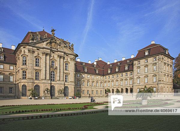 Schloss Weißenstein in Pommersfelden  Landkreis Bamberg  Oberfranken  Bayern  Deutschland  Europa