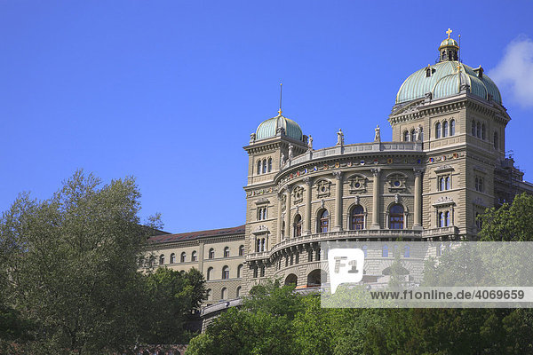 Parliament Building in the Federal Palace in Berne  Switzerland  Europe