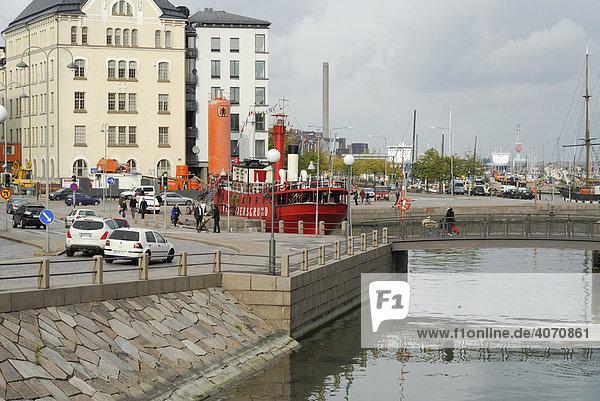 Restaurant ship  mooring  Helsinki  Finland  Europe