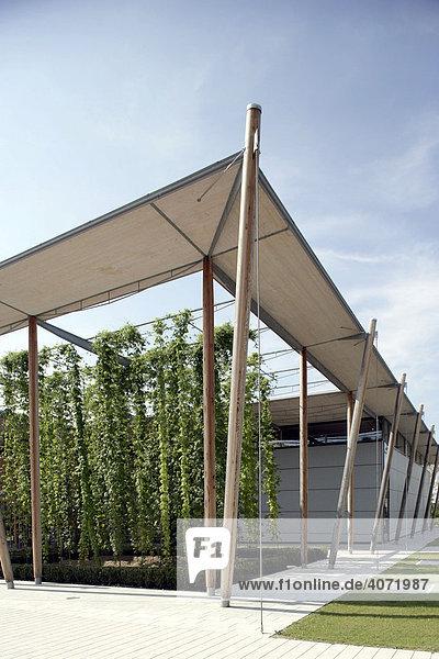 Deutsches Hopfenmuseum in Wolnzach in der Hallertau  Bayern  Deutschland  Europa