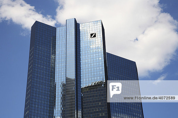 Deutsche Bank  Bürohochhaus  Konzernzentrale  Frankfurt am Main  Hessen  Deutschland  Europa