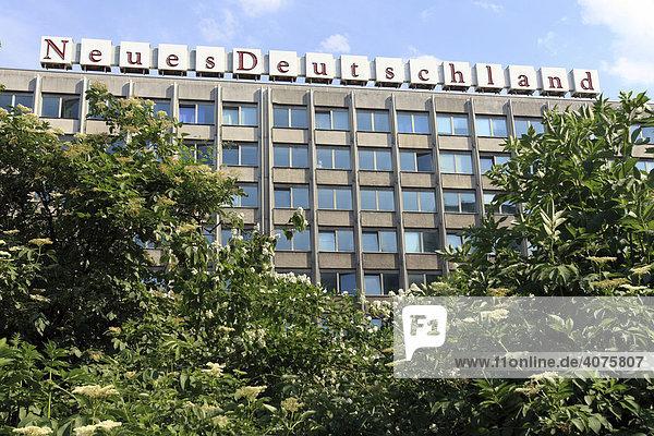 Verlagshaus Neues Deutschland  Berlin  Deutschland  Europa