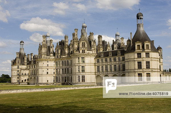 Schloss Chambord  das größte Schloss an der Loire  Frankreich  Europa