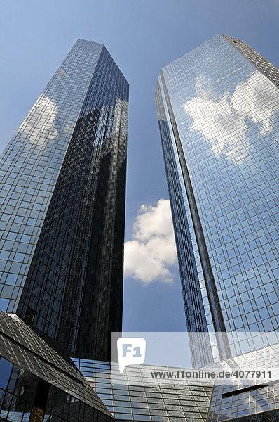 Zentrale der Deutschen Bank  Frankfurt  Hessen  Deutschland  Europa