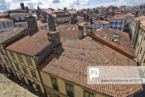 View from the Catedral del Apostol  Santiago de Compostela  Spain  Europe