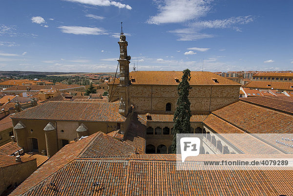 View over rooftops from the Catedral Vieja  Salamanca  Spain  Europe