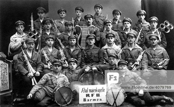 Historische Aufnahme  Musikkapelle  ca. 1920