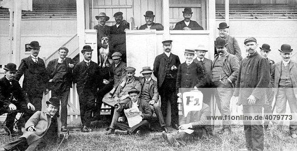 Historische Aufnahme  Männergruppe  ca. 1920