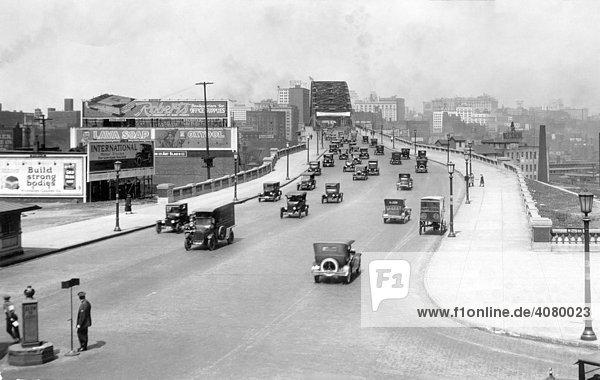 Historische Aufnahme  Brücke in Dallas  USA  ca. 1920