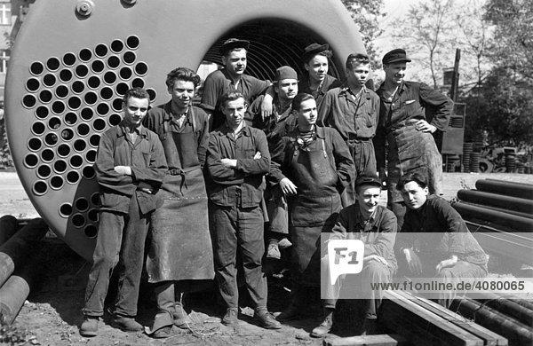 Historische Aufnahme  Arbeiter  ca. 1930