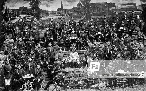 Historische Aufnahme  Reservisten  Soldaten  ca. 1910