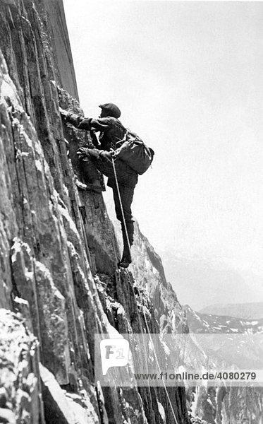 Historische Aufnahme  Bergsteiger  1922
