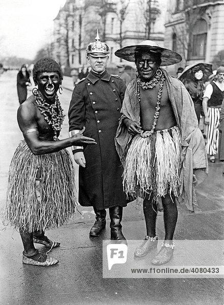 Historische Aufnahme  Karneval  ca. 1912