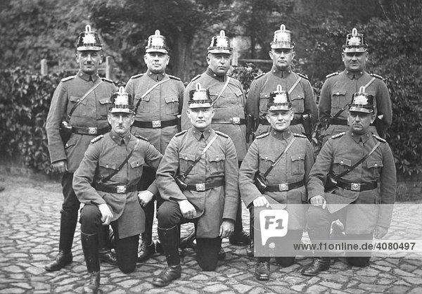 Polizei  historische Aufnahme  ca. 1930