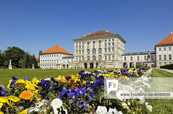Schloss Nymphenburg  München  Bayern  Deutschland  Europa
