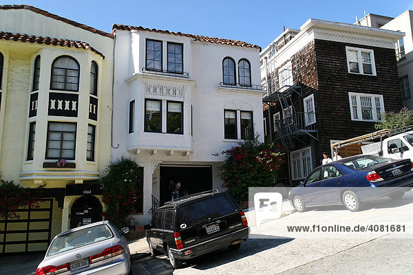 Lombard Street  San Francisco  Kalifornien  Nordamerika  USA