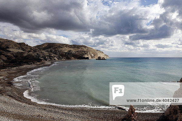 Coastline in the southern  Greek part of Cyprus