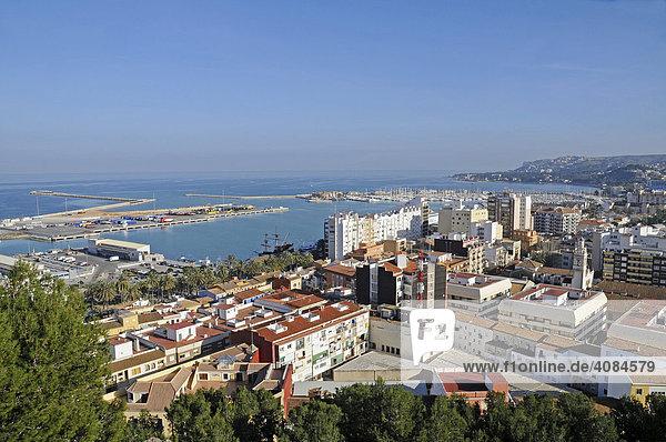Stadtübersicht  Denia  Valencia  Costa Blanca  Spanien