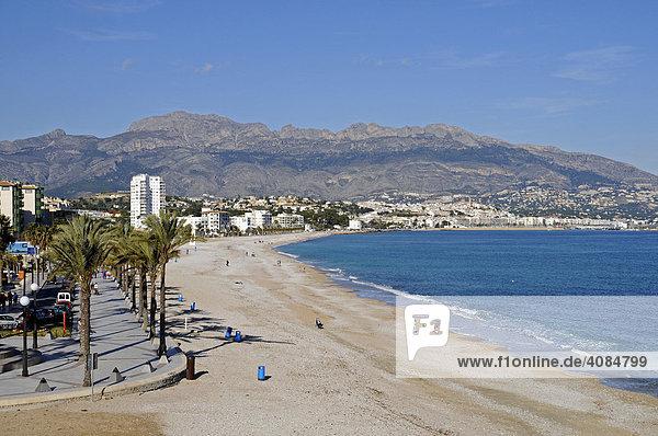 Strand  Albir  Altea  Alicante  Costa Blanca  Spanien