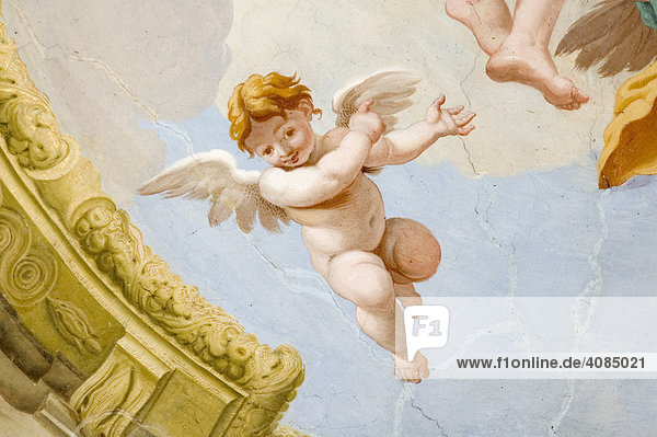 Cremona Lombardei Italien S. Sigismund Fresko 16. Jh. Engel und Putten