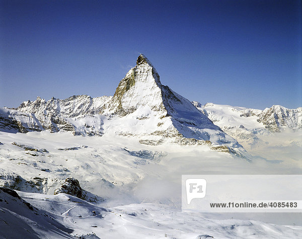 Matterhorn im Wallis Schweiz