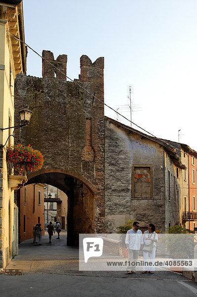 Valeggio sul Mincio Borghetto am Mincio südlich vom Gardasee Venetien Italien