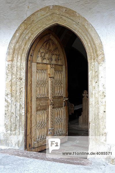Altenmarkt im Pongau Salzburger Land Österreich Eingang zur Kirche