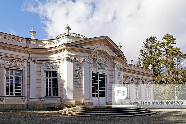 Amalienburg Park Schloss Nymphenburg München Oberbayern Bayern Deutschland erbaut von Francois CuvillÈs 1734 bis 1735