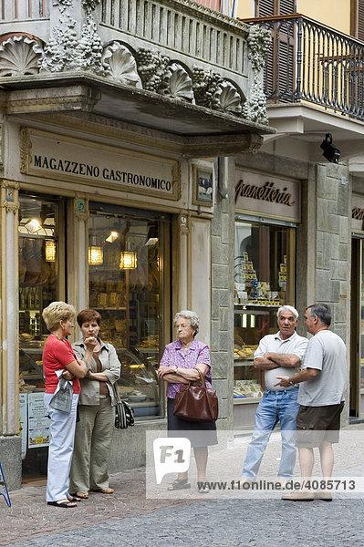 Ivrea Piemont Italien in den Gassen der Altstadt