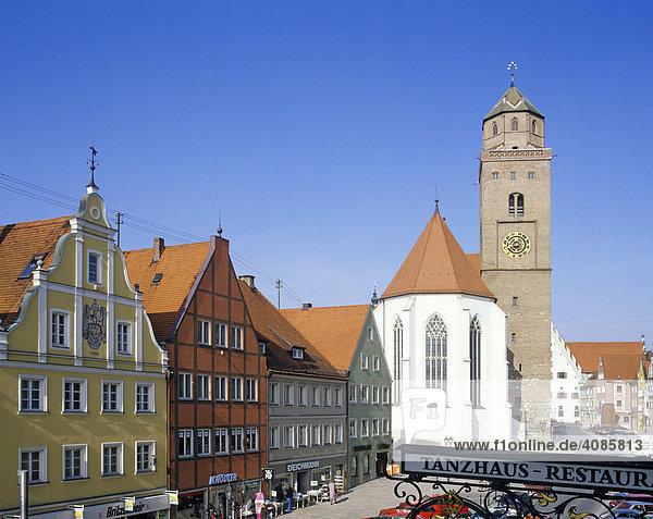 Donauwörth bayerisch Schwaben Bayern Deutschland Stadtpfarrkirche U.L. Frau in der Reichstraße erbaut 1444 von Hans Knebel