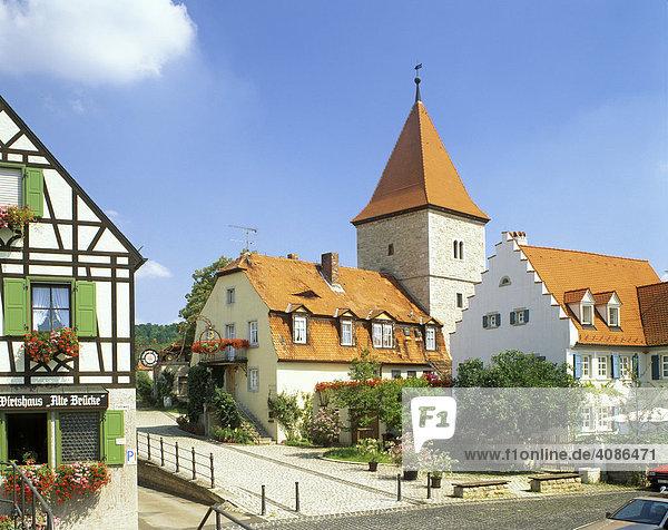 Sommerhausen am Main Unterfranken Bayern Deutschland