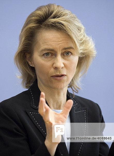 Ursula VON DER LEYEN ( CDU )  Bundesministerin für Familie  Senioren  Frauen und Jugend  BERLIN  DEUTSCHLAND  07.03.2008.