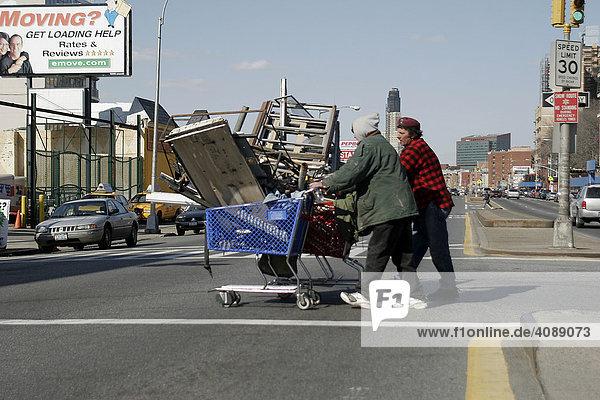 USA  New York City  Brooklyn  Obdachlose