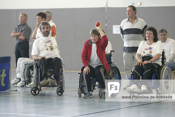 Boccia Turnier von Rollstuhlfahrern