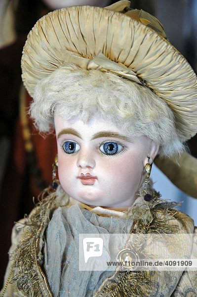 Historical french doll in a doll museum