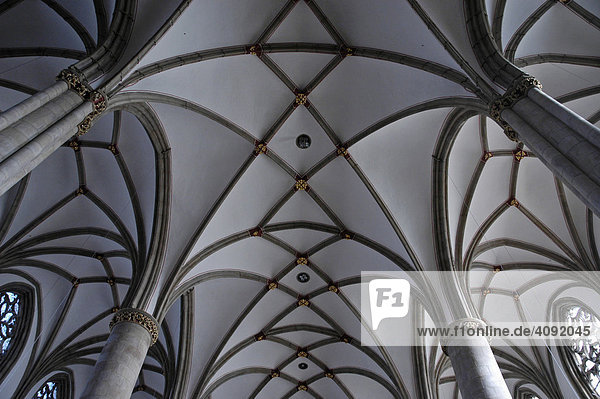 Innenansicht St. Lamberti Kirche  Münster  NRW  Nordrhein Westfalen  Deutschland