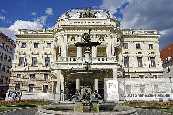Old Slovak National Theatre building  Bratislava  Slovakia