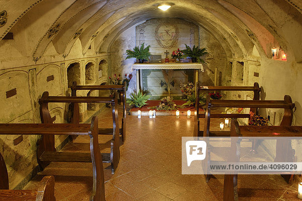 Kapelle unterhalb des Klosters Maria Weißenstein  Petersberg  Südtirol Italien