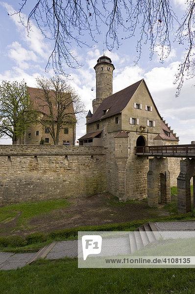 Die mittelalterliche Altenburg  Bamberg  Oberfranken  Franken  Bayern  Deutschland  Europa