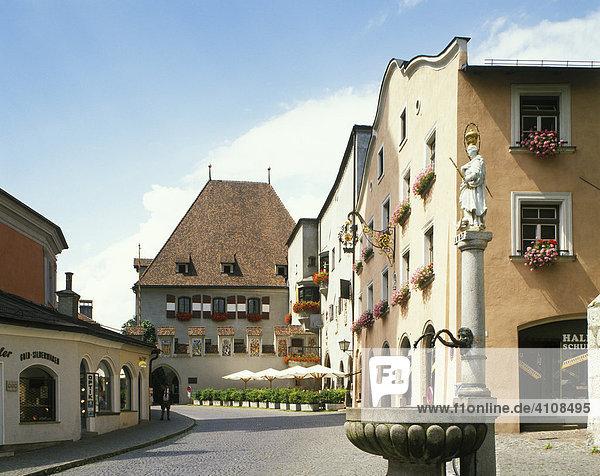 Rathaus  Hall  Tirol  Österreich  Europa