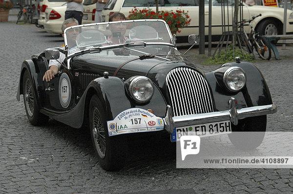 Morgan Oldtimer  Oldtimer Rallye 2000 Km durch Deutschland  Schwäbisch Gmünd  Baden Württemberg  Deutschland  Europa