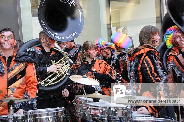 Guggenmusikergruppe Bielbachfäger Luzern  Schweiz  25. Internationales Guggenmusikertreffen in Schwäbisch Gmünd  Baden Württemberg  Deutschland  Europa