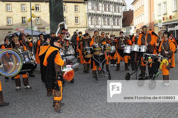Guggenmusikergruppe Städtli Schränzer Lichtensteig  Schweiz  25. Internationales Guggenmusikertreffen in Schwäbisch Gmünd  Baden Württemberg  Deutschland  Europa