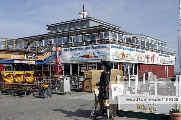 Gourmetlokal am Hafen  List  Sylt  nordfriesische Insel  Schleswig-Holstein  Deutschland  Europa
