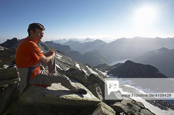 Wanderer  Hohe Tauern  Kärnten  Österreich