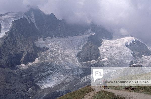 Großglockner und Pasterze  Nationalpark Hohe Tauern  Kärnten  Österreich