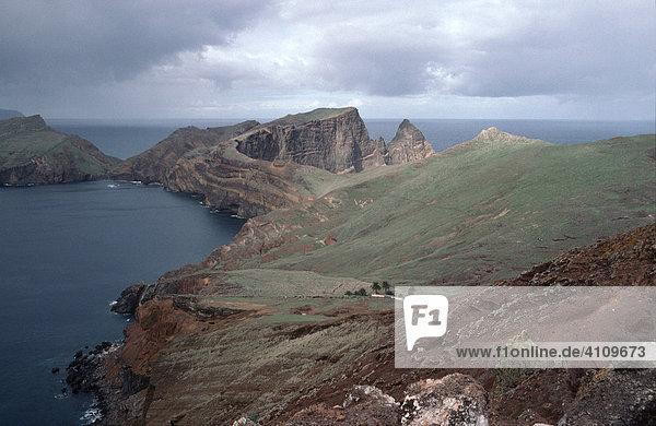 Naturlandschaft am Ponta de São Lourenço  Madeira  Portugal