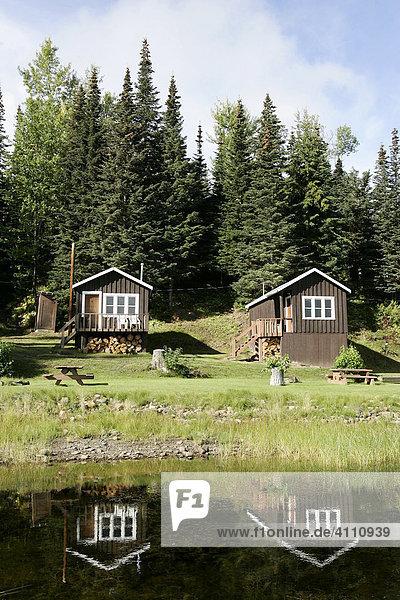 Lodge am Babine Lake in British Columbia  Kanada