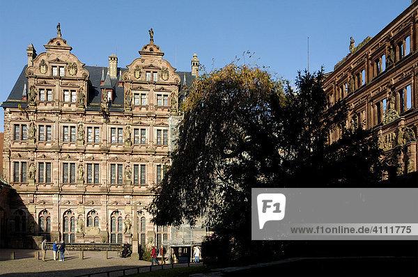 Heidelberger Schloss  Schlosshof Heidelberg Baden-Württemberg Deutschland